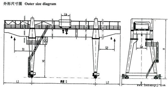 低净空桥式起重机结构